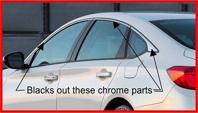 2018/2019 Honda Accord Sedan Chrome Trim blackout overlay