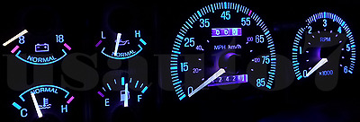 Dash Instrument Cluster Gauge AQUA BLUE LED LIGHTS KIT Fits