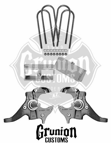 Mcgaughys S10 23 Drop Kit Spindles Blocks 33104 For Sale