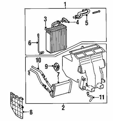 97 01 Toyota Camry 8710606060 Heater Servo Motor Actuator