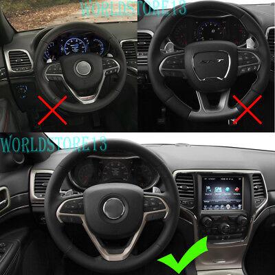 For Jeep Cherokee Grand Cherokee 2014-2019 ABS Black Steering Wheel Cover Trim