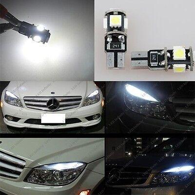 4x Mercedes Benz W204 C300 C350 C63 AMG LED W5W 5-SMD