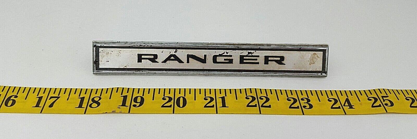 Vintage Ford Ranger Emblem Script Badge Ornament Logo C5GB