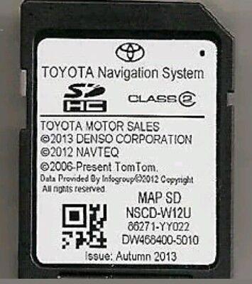 2012 2013 Genuine Toyota Sequoia Tundra Sienna Navigation SD Card