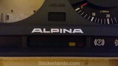 Bmw Alpina Sticker Decal 2x E30 C1 B6 27 Alpina M20 M30 For