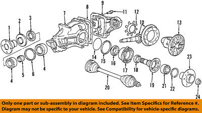 Cool Bmw Oem 01 02 Z3 Rear Axle Differential Pumpkin Cover 33117507770 Wiring Digital Resources Caliashwinbiharinl