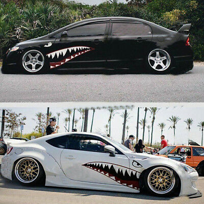 2pcs 59 Shark Mouth Teeth Graphic Vinyl Auto Sticker Decal