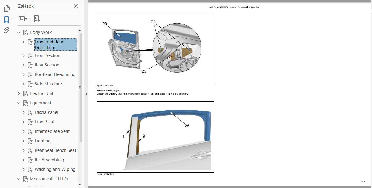 Official Workshop Service Repair Manual For Citroen C5 2007 2015 C25 Wiring Diagram Sale
