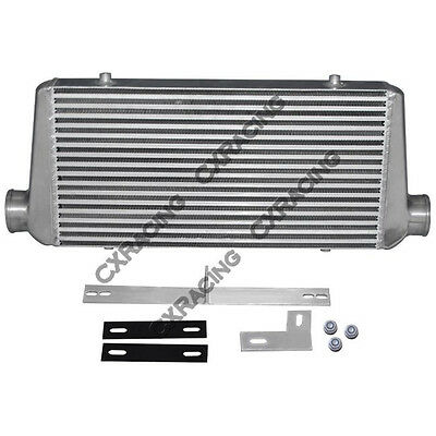 CXRacing Turbo Intercooler + Bracket For 79-93 Ford Mustang