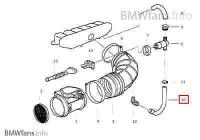 New BMW E36 325i, 325is M50 M3 S50 Idle Control Valve Hose
