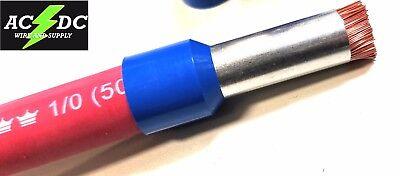 10 1/0 0 gauge 25mm TINNED COPPER WIRE ferrule car audio amplifier ...