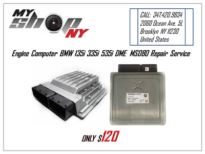 BMW 135i 335i 535i X5 DME MSD80 REPAIR SERVICE Codes: 30BA, 30BB For