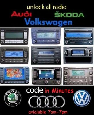 radio code unlock rns-315 rns-310 rns-210 rns-300 rcd-310