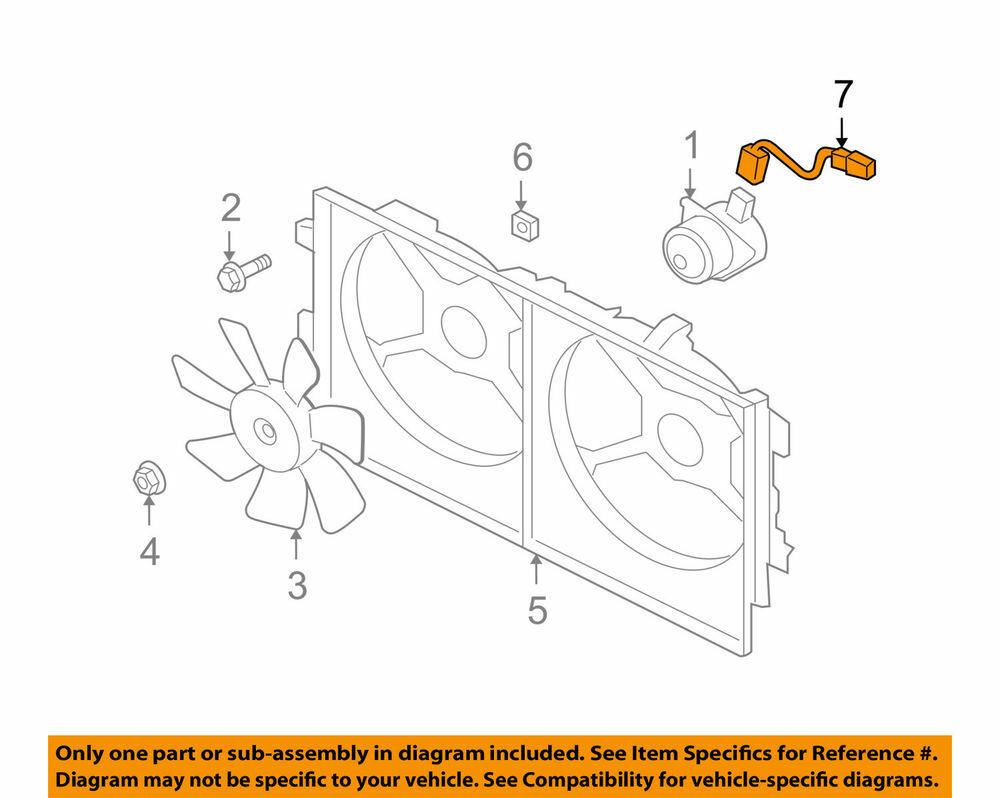 Engine Cooling Fan Wiring Harness For Mitsubishi Lancer 08 15 Diagram 1355a245 Sale