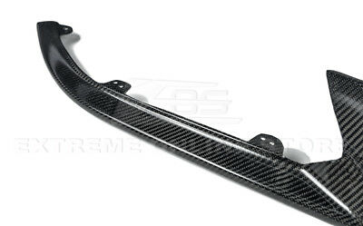 Extreme Online Store Replacement for 2016-Up Cadillac ATS-V Carbon Package Style Carbon Fiber Front Bumper Lower Lip Splitter