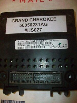 Tested 2004 Jeep Grand Cherokee Bcm Module Body Control 56050231ag Hs027 62 99