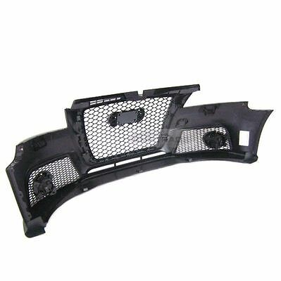 RS Style Front Bumper Black Flame Mesh ABS Grille For AUDI 2009-2011