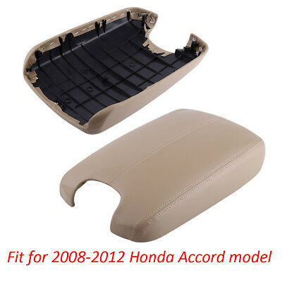 Car Console Leather Lid Armrest Cover for Honda Accord Coupe Crosstour 2008-2015