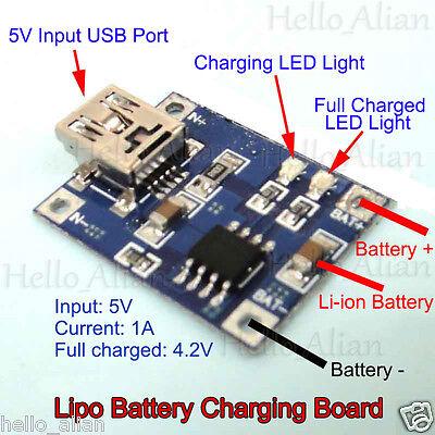 mini usb 1s lithium li ion 18650 3 7v 4 2v battery charging charger