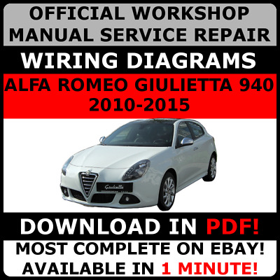 940 Alfa Romeo Giulietta A-191 2010-2015 Workshop service repair manual