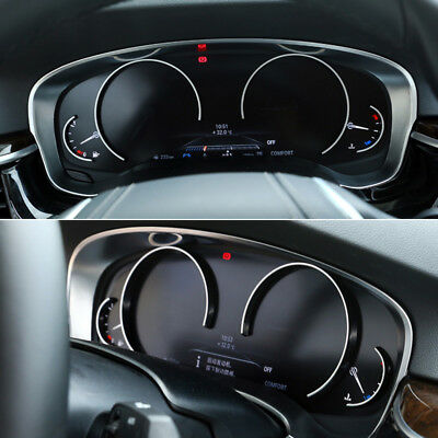 ABS Matte Interior Dashboard Display Cover Trim for BMW 5