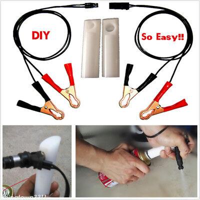 DIY Car Fuel Injector Flush Cleaner Adapter Kit Set Vehicle