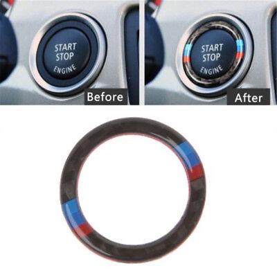 BMW E90/E92/E93 Cool Carbon Fiber Key Start Button Ring Decor Trim