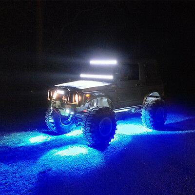 10x Blue Eagle Eye LED Rock Light JEEP ATV Off Road Truck Under Trail Rig  Lights