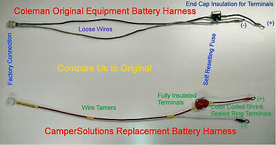 coleman 15 amp popup camper battery harness 4749a5531  $34 99