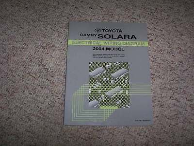 2004 toyota camry solara electrical wiring diagram manual coupe convertible  v6  $19 99