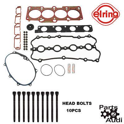 ELRING Cylinder Head Gasket Set BOLTS AUDI A4 2 0T VW PASSAT
