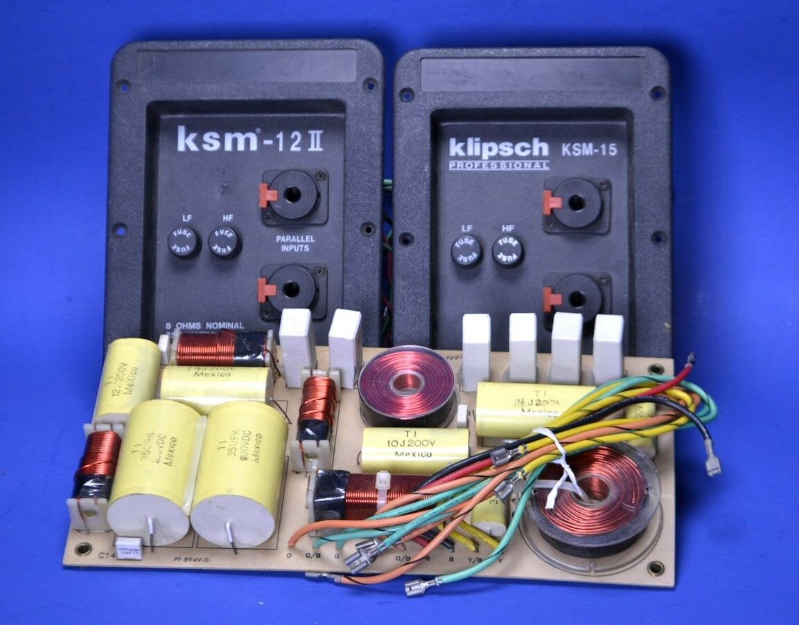 3 (Three) JBL S3HC, Klipsch KSM-15, and Klipsch KSM-12 Crossover