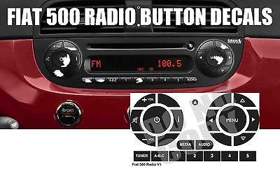 Fiat 500 Radio Stereo Worn Peeling Button Repair Decals