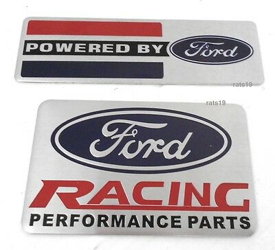 2 Ford Emblems 1 Powered By Ford 1 Ford Racing Parts Both