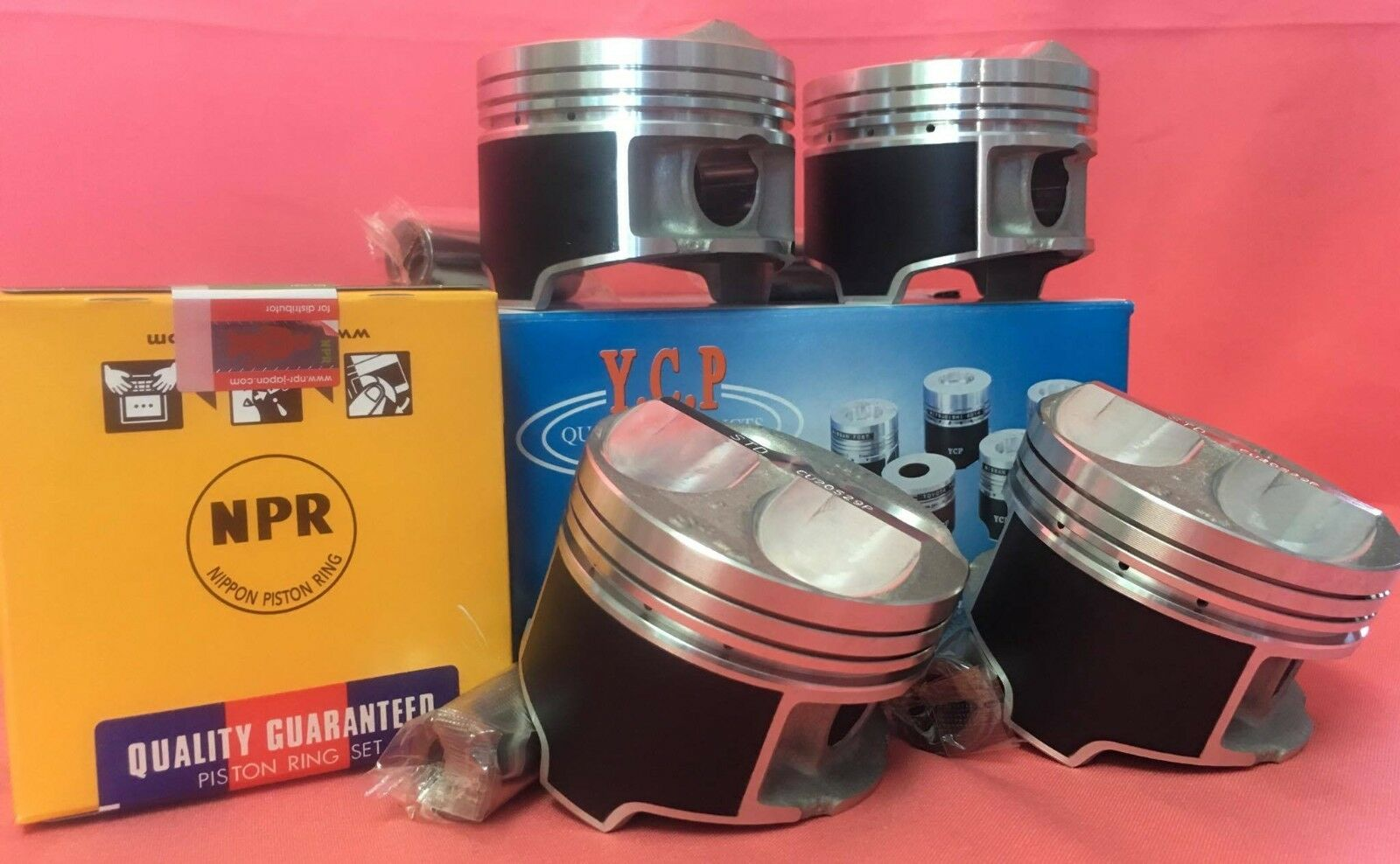 81MM HIGH COMPRESSION PISTONS /& RINGS ACURA INTEGRA CIVIC SI TYPE R B16 B18