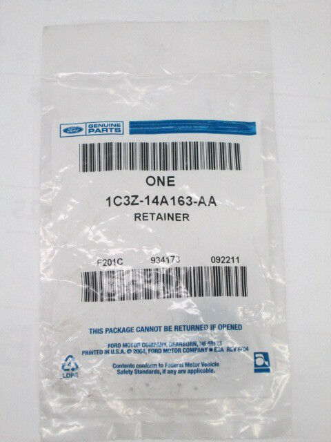 ford genuine parts oem factory wiring harness retainer clip 1c3z-14a163-aa  for sale