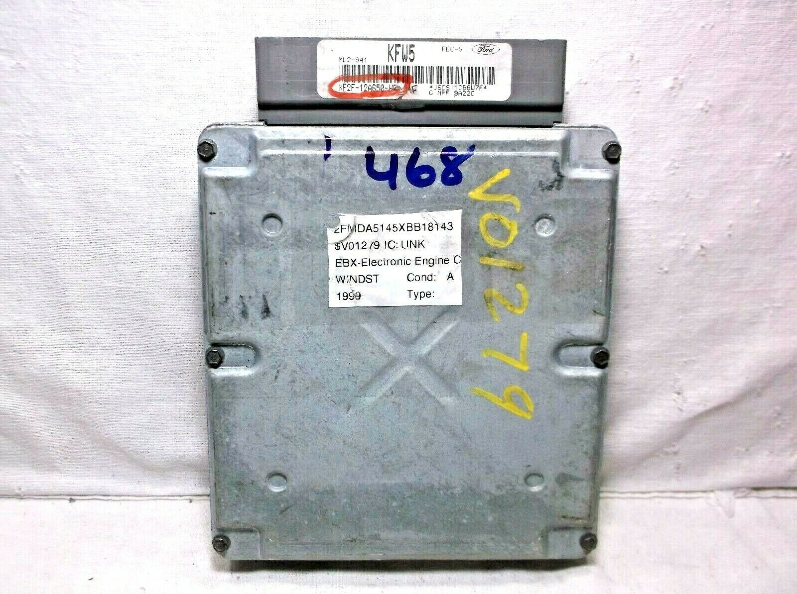 99-00 FORD WINDSTAR 3 8L ENGINE CONTROL MODULE/COMPUTER ECU ECM PCM