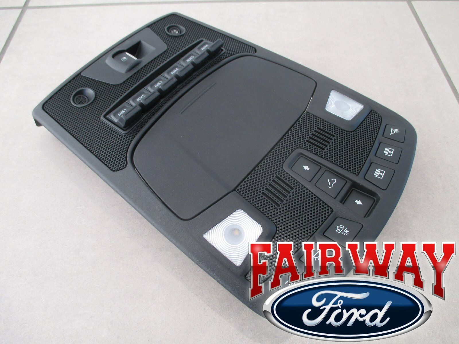 17 thru 18 F-150 RAPTOR OEM Ford Overhead Console with ...