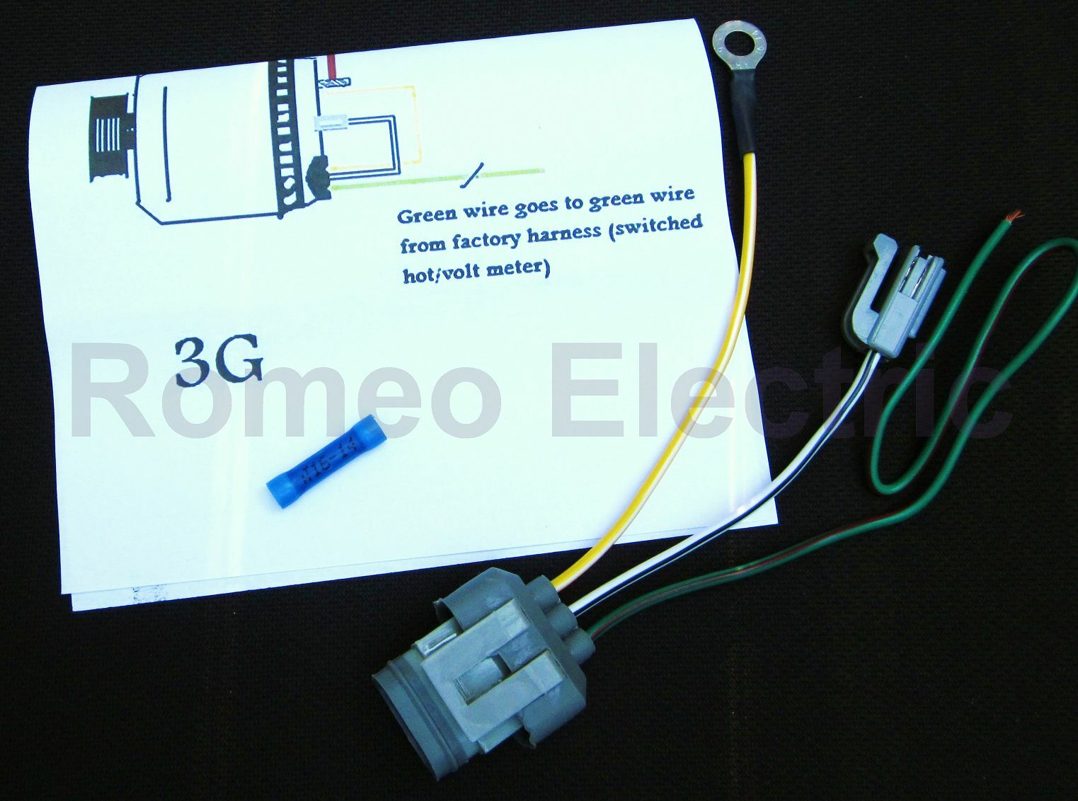 Ford 3g Alternator Conversion Harness Connector 1 Wire Mustang And Wiring Connectors Other Fords For Sale