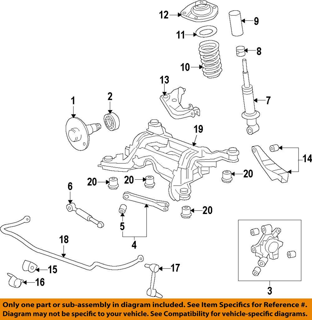 Pontiac Gm Oem 08 09 G8 Rear Shock Absorber Or Strut 92269782 For Sale Brakes Diagram