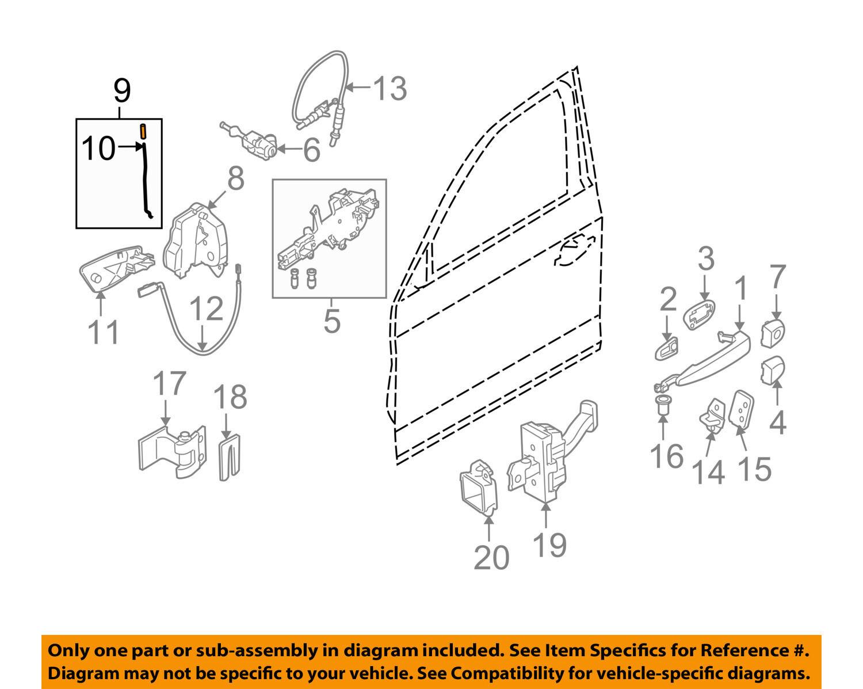 Bmw Oem 07 12 328i Front Door Lock Rod Left 51217059905 For Sale 2011 Xdrive Engine Diagrams