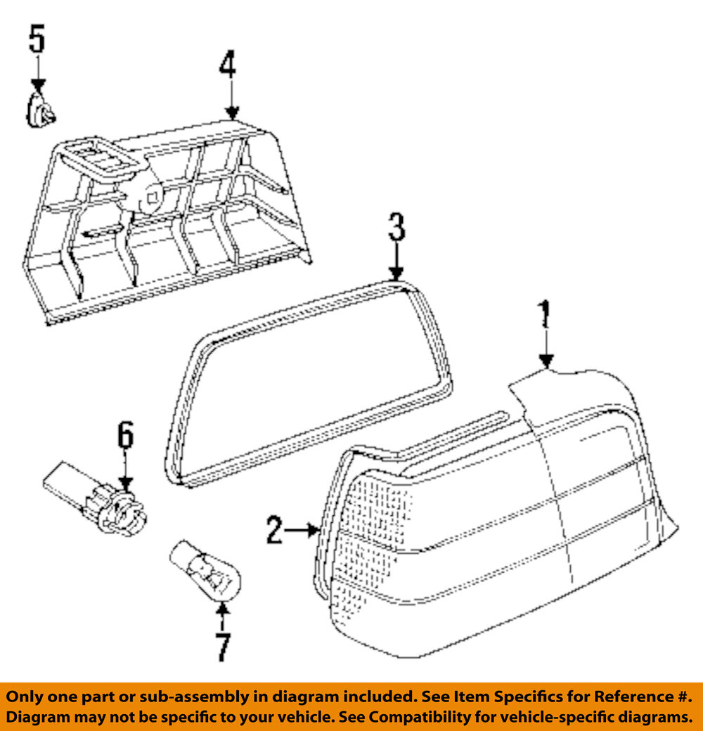 Bmw Z3 Tail Light Diagram Detailed Schematics 1996 Fuse Box Oem 96 02 Bulb 07119905336 For Sale