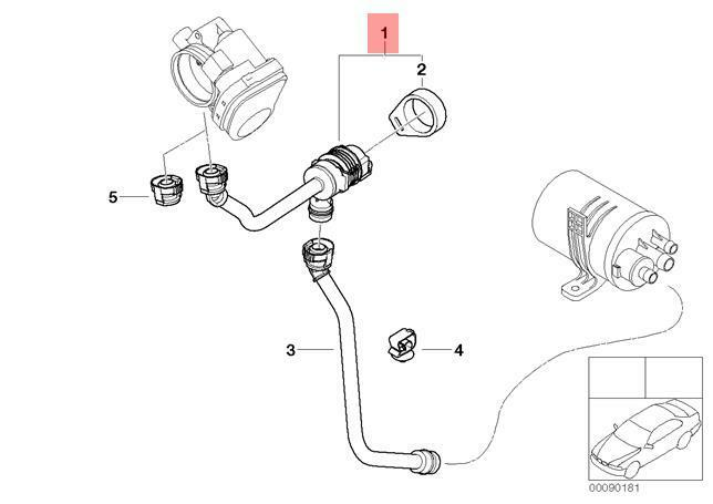 Genuine BMW E46 Compact Coupe Sedan Fuel Tank Breather Valve