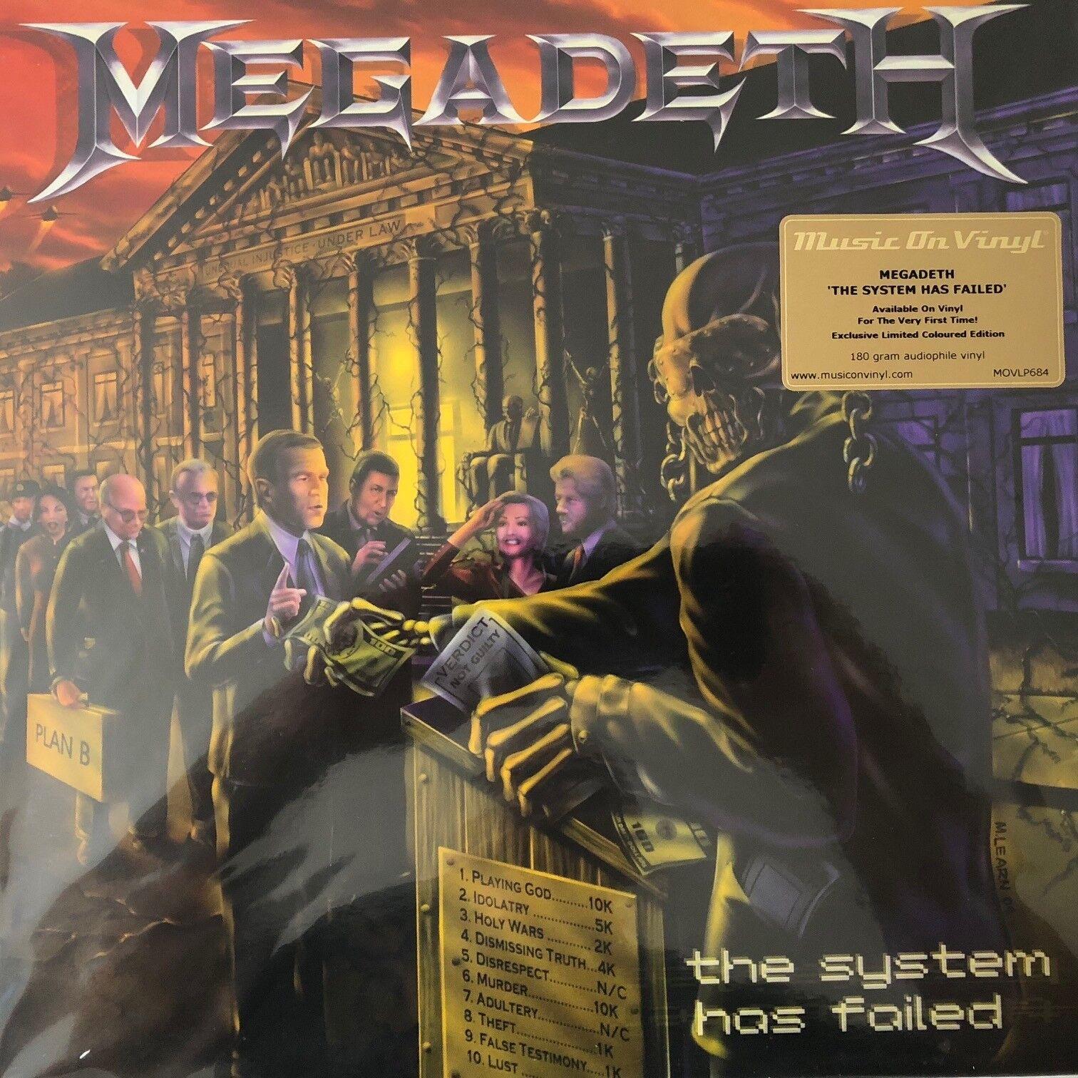 Megadeth the system has failed purple vinyl movlp for sale jpg 1512x1512  The system has failed a35b95bbaedaf
