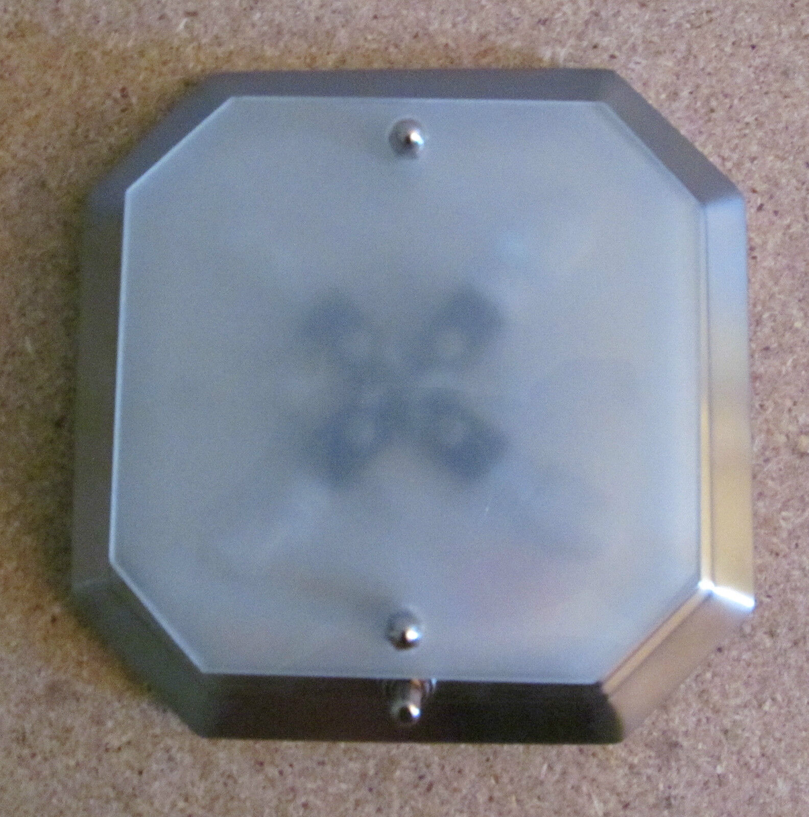 RV, Trailer & Camper Parts Boat RV 12 Volt Nickel Ceiling\/Wall\/Cabinet Light Frosted Swirl Glass