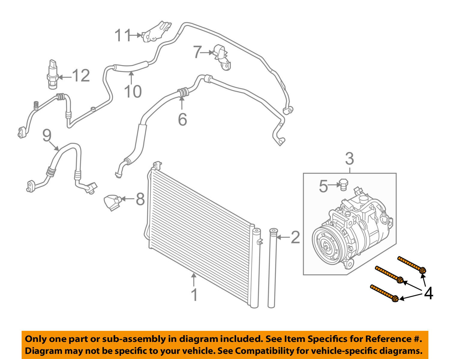 Bmw Oem 11 16 X3 Front Bumper Impact Bar Reinforcement Rebar Bolt 2011 Engine Diagram 07119904996 For Sale