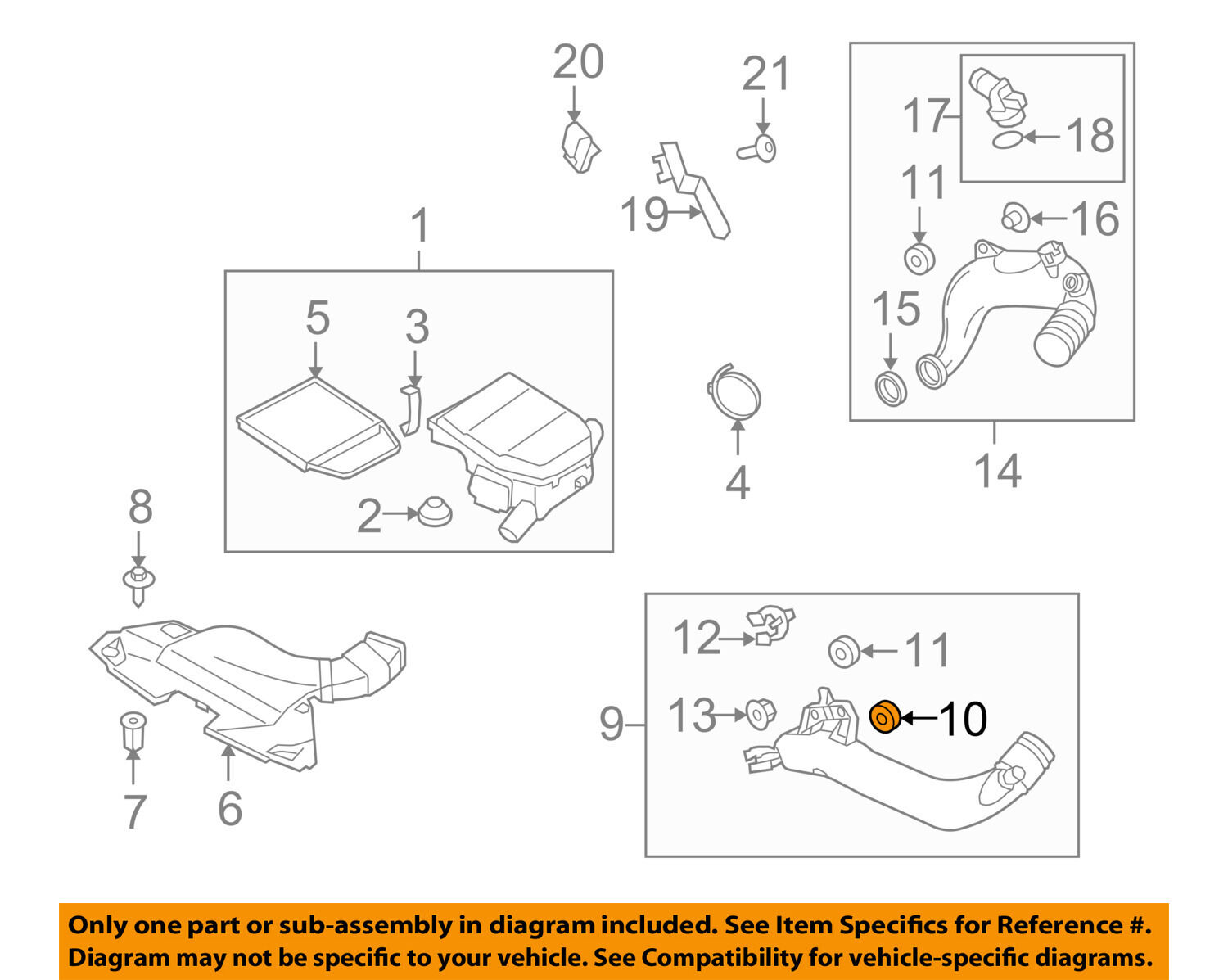 Bmw Oem 09 16 Z4 30l L6 Air Cleaner Intake Front Duct Bushing Engine Diagram 13712247398 For Sale