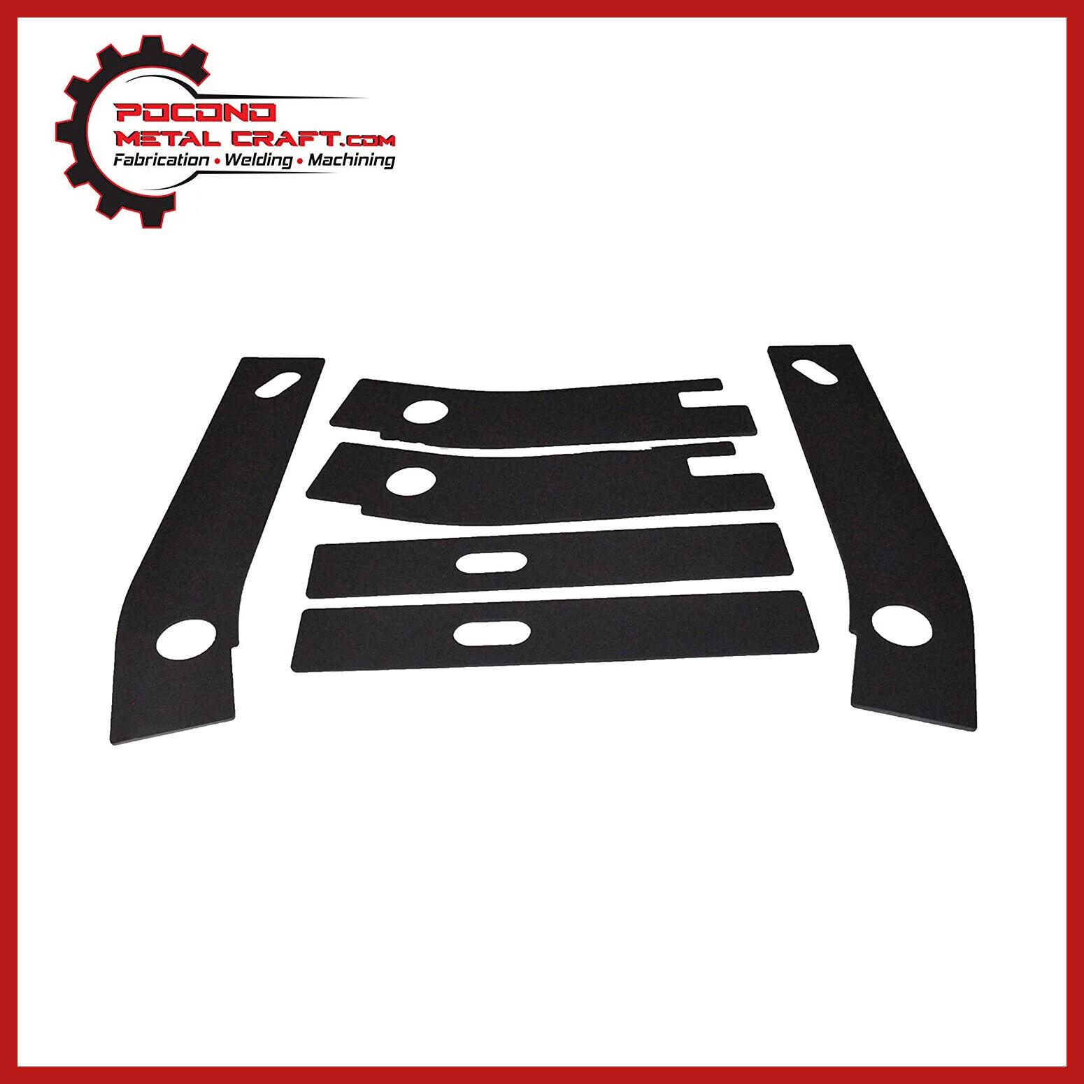 6 Pc Frame Rust Repair Shackle Weld Plates Jeep Wrangler YJ Rear ...