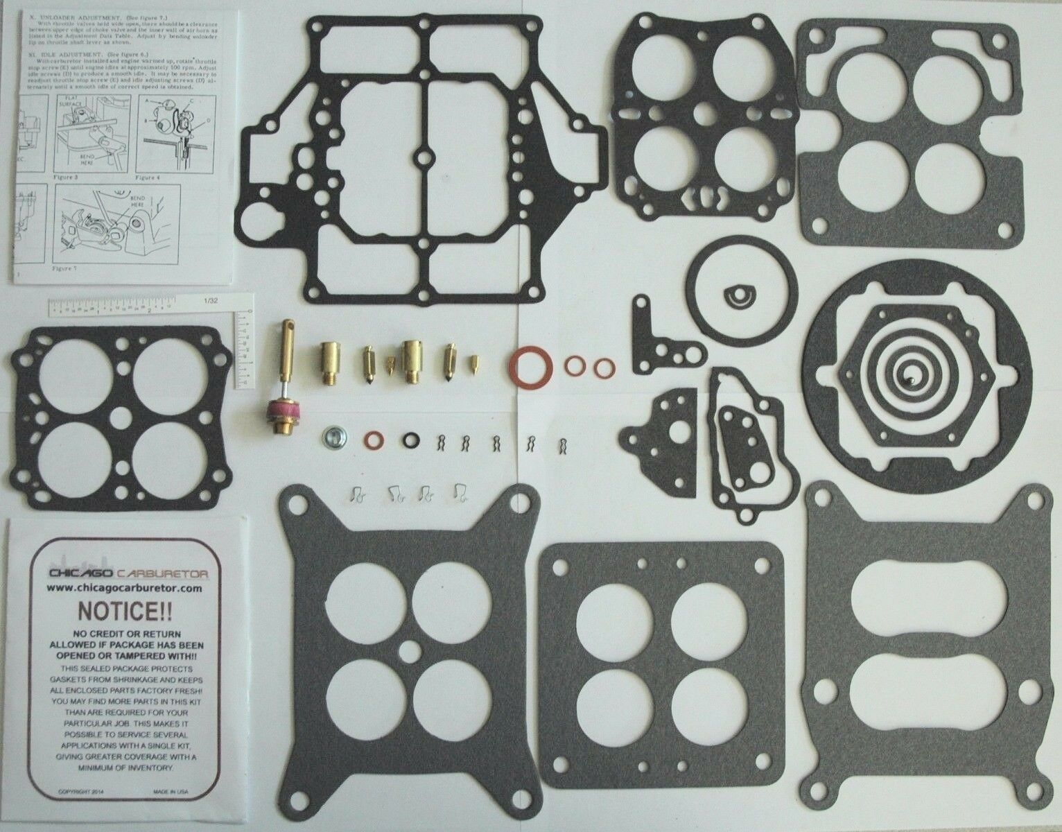 1955-57 CARB KIT CARTER WCFB PLYMOUTH 4 BARRELS NEW DOES 4 DIFFERENT