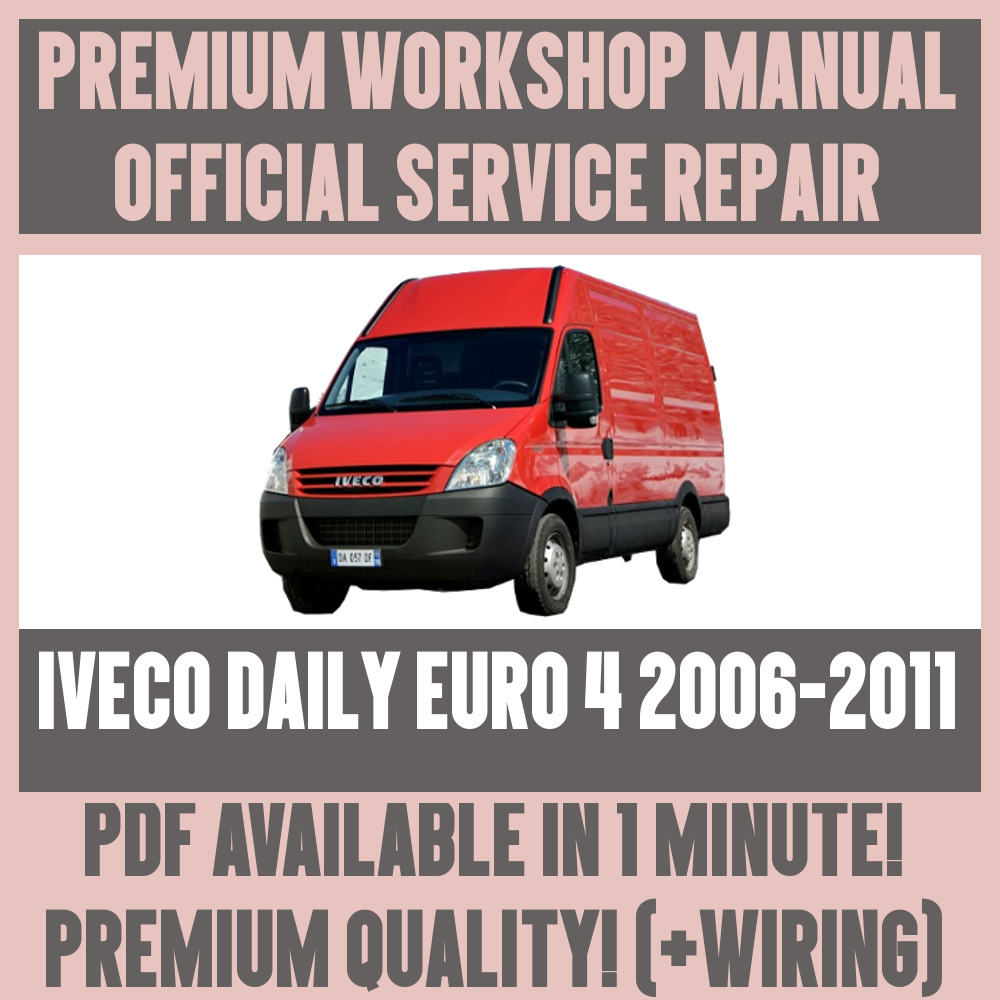 *workshop manual service & repair guide for iveco daily euro 2006-2011 + wiring for sale